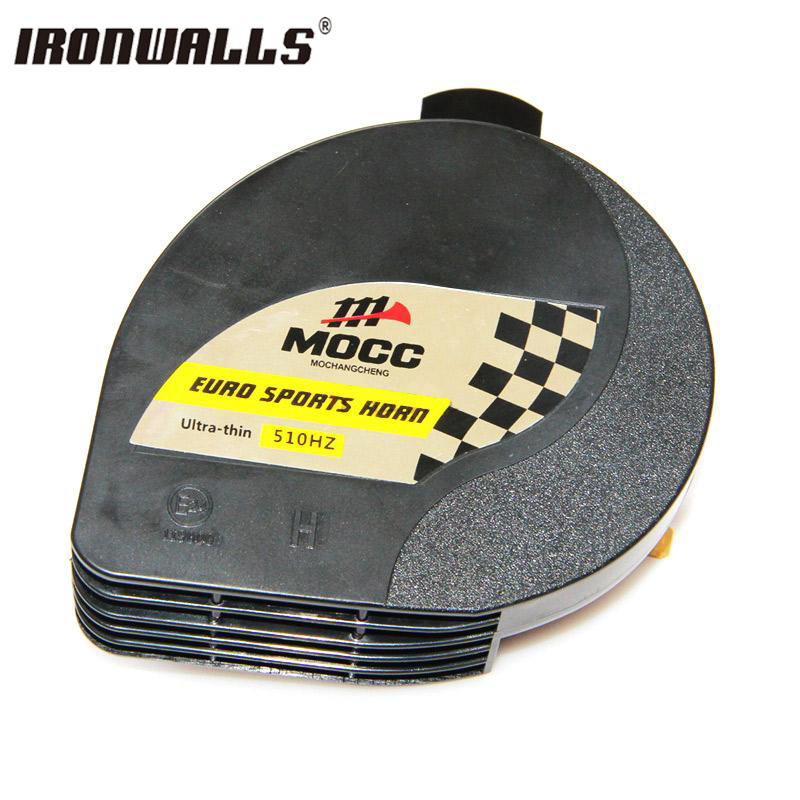 Ironwalls 12V Horn Motorcycle Racing Bike Scooters ATVs Go-Karts Vespas Dirt Bikes 510HZ Euro Sports Horn For ATVs,Go-Karts