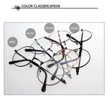 Women Vintage Glasses Frame Plain Mirror Big Round Metal Optical Frame For Girl Eyeglass Clear Lens  feminino de grau AL-2