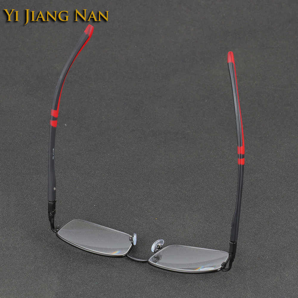 Mode Stijlvolle Mannen Full Frame Optische Leesbril Mannelijke Kwaliteit Legering Brillen