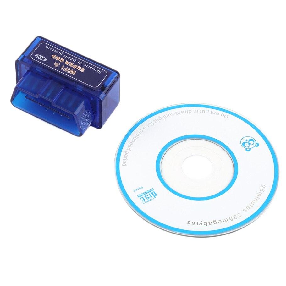 Prix pour Mini ELM327 WiFi ELM 327 OBDII Voiture De Diagnostic Outil OBD2 Lecteur de Code Scanner Pour IOS Android ELM WiFi De Diagnostic Scanner B13-2