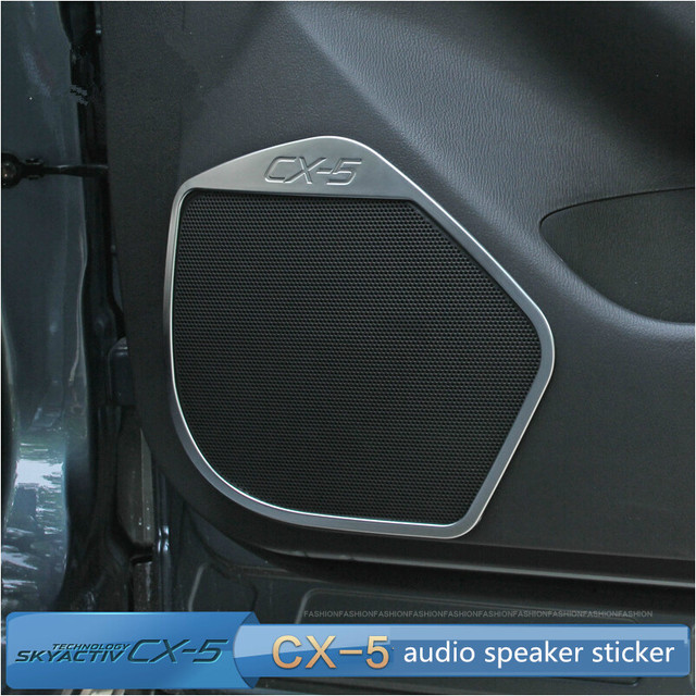 Free shipping!For MAZDA CX-5 cx5 ABS Chrome trim door audio speaker decoration sticker for cx-5 accessories