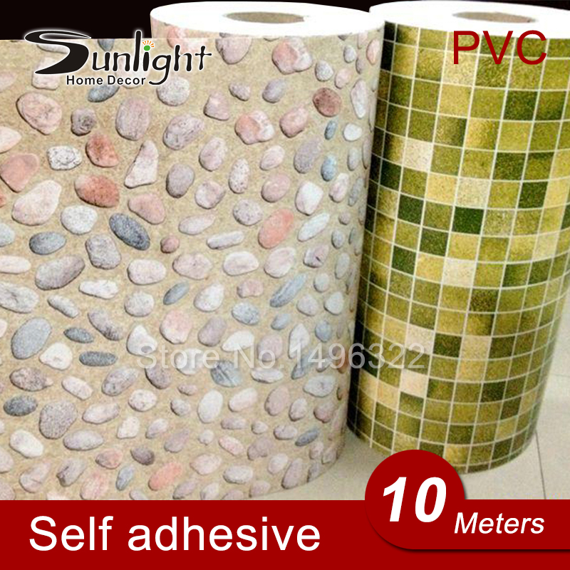 Online buy wholesale self stick tile from china self stick for Cheap stick on wallpaper