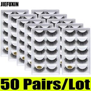 Image 2 - Pestañas de visón 3d, 50 pares, venta al por mayor, 10 cajas, pestañas de visón 3d, pestañas postizas largas naturales, extensión de ojos cilios g806 g800