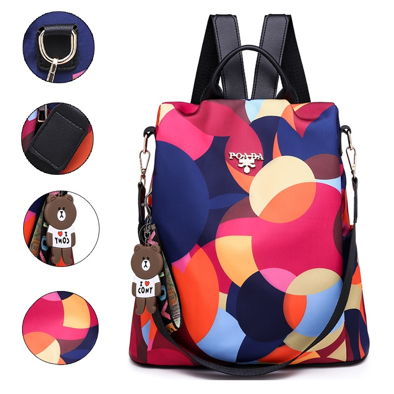 Women Backpacks Oxford Large-Capacity Anti-Theft Waterproof High-Quality Ladies Famous Brand