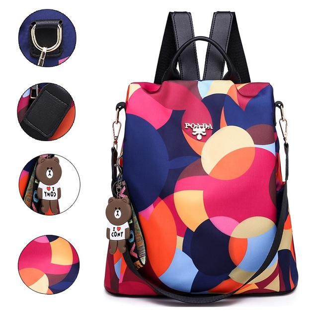 77a02ef112e7 Fashion Anti Theft Women Backpacks Famous Brand Ladies Large Capacity  Backpack High Quality Waterproof Oxford Women