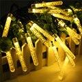 Christmas Lights Outdoor Solar Power LED Lamps 4.8M 20LED Ice Piton Solar Garden Light LED Fairy Party Festival Lighting Strings