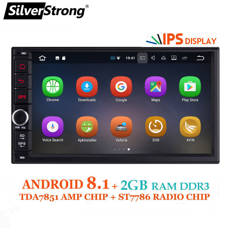 SilverStrong IPS Android8.0 Universal 2din Auto DVD OctaCore 4G 32G DSP Doppel DIN Auto GPS Radio Autoradio TPMS 706x30-x5