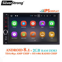 SilverStrong IPS Android8.0 Universal 2din Car DVD OctaCore 4G 32G DSP Double DIN Car GPS Radio Autoradio TPMS 706x30 x5