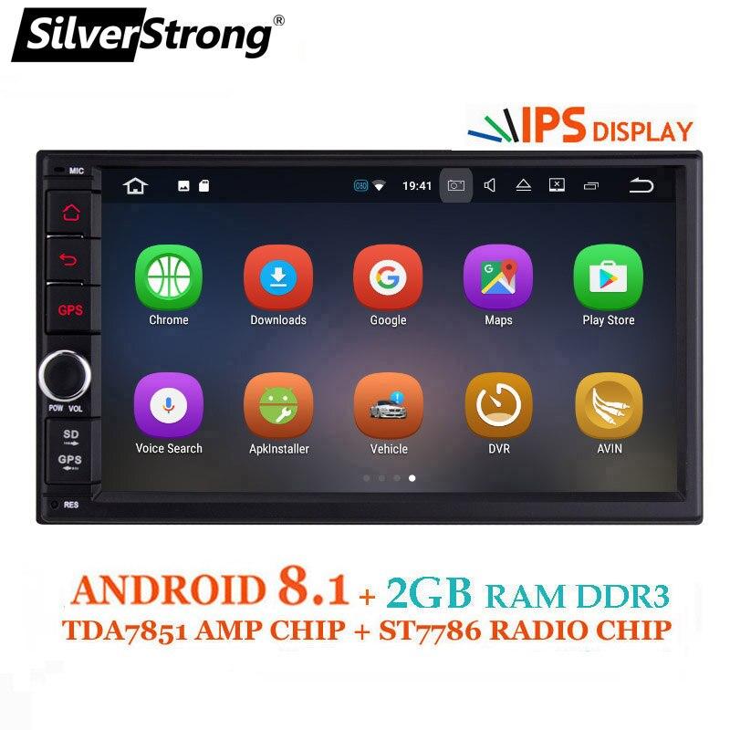 SilverStrong ips Android8.0 Универсальный 2din автомобильный DVD OctaCore 4 г 32 г DSP двойной DIN Автомобильный gps Радио авторадио TPMS 706x30-x5