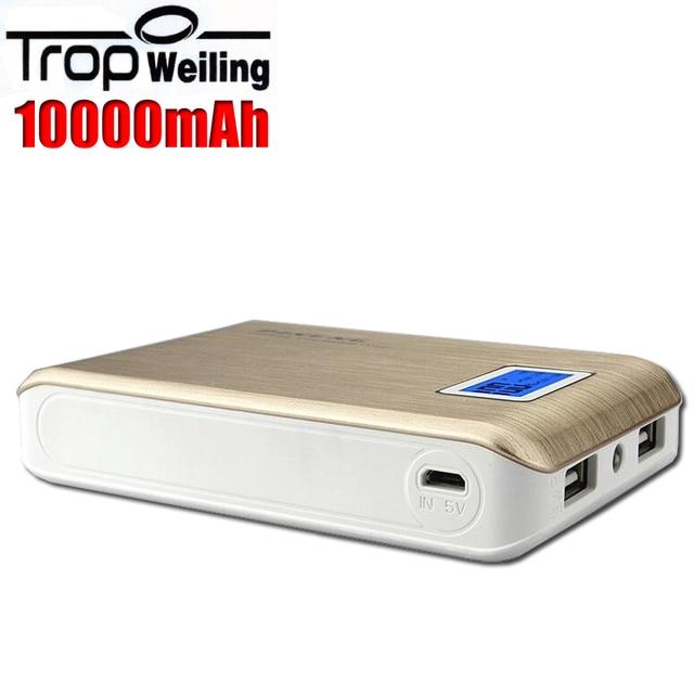 ЖК 18650 банк силы коробка 10000 мАч внешняя батарея pover банк зарядное устройство для Всех телефонов аккумулятор externe