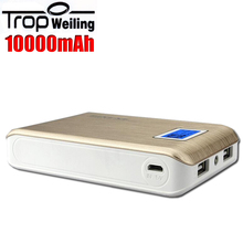 LCD 18650 power bank box 10000mah external battery pover bank mobile charger for All phones  batterie externe
