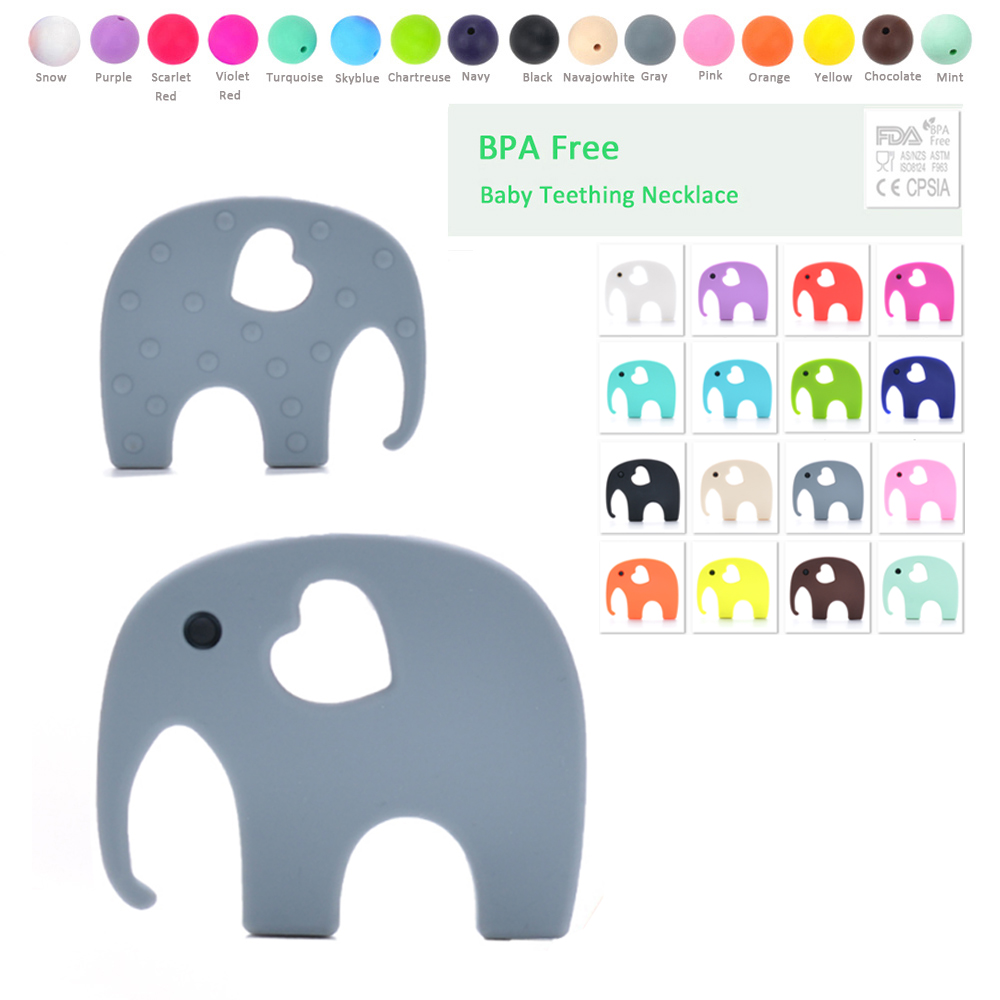 Shitje me shumicë Elephant Teether 1pcs Baby Soft Soft Teething Chew Toys
