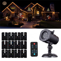 SXZM Christmas Projector Light Decorations12 Slides With Remote Indoor Outdoor Lighting For Garden Party Holiday