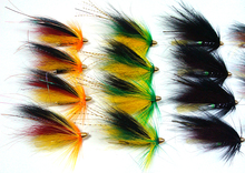 Wifreo [20PCS] Assorted Color Salmon Steelhead Fishing Tube Fly Combo Sea Bass Teasers Blue Orange Black Green Color