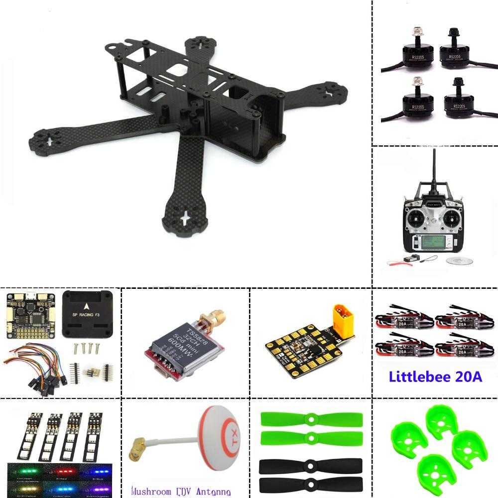 Carbon fiber frame DIY mini drone FPV 220mm quadcopter for QAV R 220 F3 Flight Controller