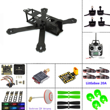 Carbon fiber frame DIY mini drone FPV  220mm quadcopter  for QAV-R 220+F3 Flight Controller emax RS2205 2300KV Motor