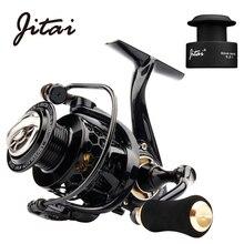 JITAI Spinning Reel Lightweight Water Resistance CNC Aluminum Spool 10+1BBs Saltwater Wheel Carp Fishing Reels with Free
