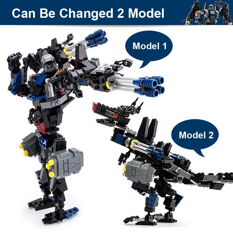 Gudi 8712 377pcs Transform Series  Transformation Robot Car Big Truck Building Block Model Toy Christmas gift for child