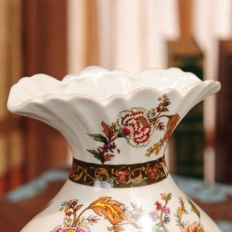 Vases European Rural Antique Porcelain For Old Painted Peacock