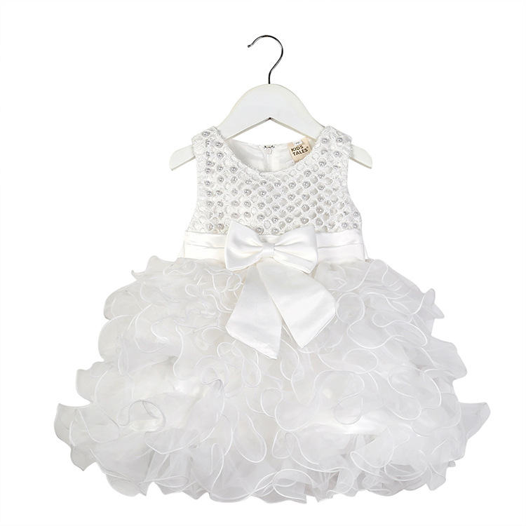 Baby dress new summer girls multi layerswing cake dress bow sleeveless children 39 s clothes in Dresses from Mother amp Kids