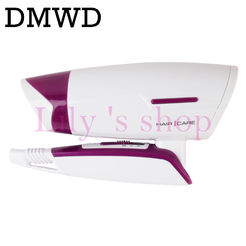 DMWD Mini Hair Dryer Foldable electric travel Hairdryer Household portable Styling Tool hot warm cold wind air blower 110V 220V dmwd mini hair dryer foldable electric travel hairdryer household portable styling tool hot warm cold wind air blower 110v 220v