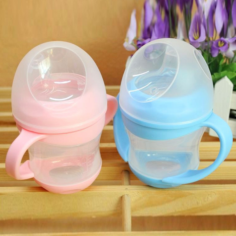 2 Pcs Primary Glass PP Baby Feeding Bottle Handle 160ml Infant Supply Unique