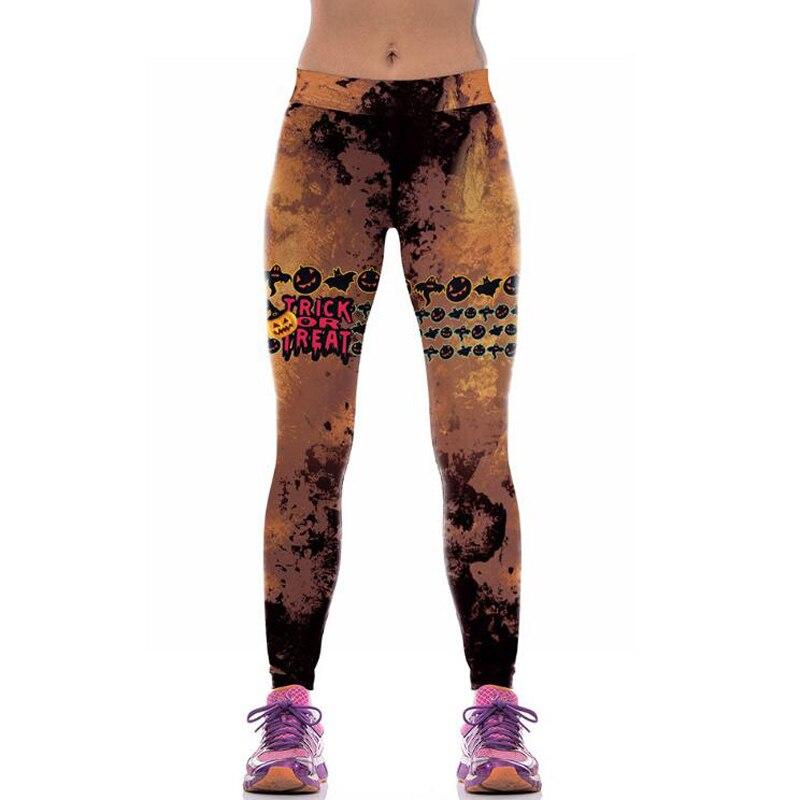 Halloween Women Leggings Autumn Fits Slim Casual Punk Pants Hot Sexy Bodycon Elastic High Waist 3D Digital Print Workout legging