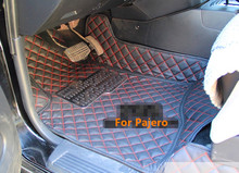 Top quality! Special floor mats for Mitsubishi Pajero 5seats 2017-2007 non-slip waterproof carpets for Pajero 2016,Free shipping