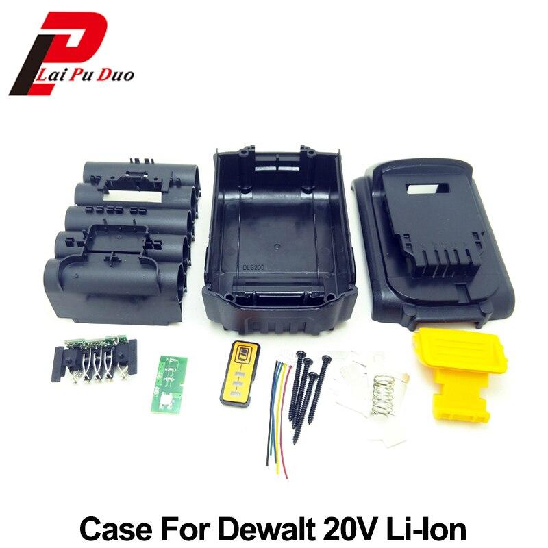Battery Replacement Plastic Case For DeWalt 20V DCB201,DCB203,DCB204,DCB200 18V Li-ion Battery Cover Parts replacement 3 7v 3600mah extended battery w battery cover case for lg optimus l7 p700