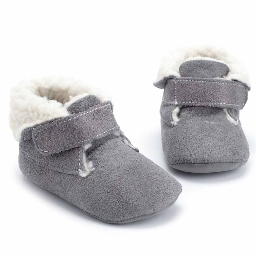 Detail Feedback Questions about OUTAD 2018 new baby shoes velvet warm soft  bottom 0 1 years old baby cotton shoes winter baby magic stickers cotton  boots on ... 027ddb420d09