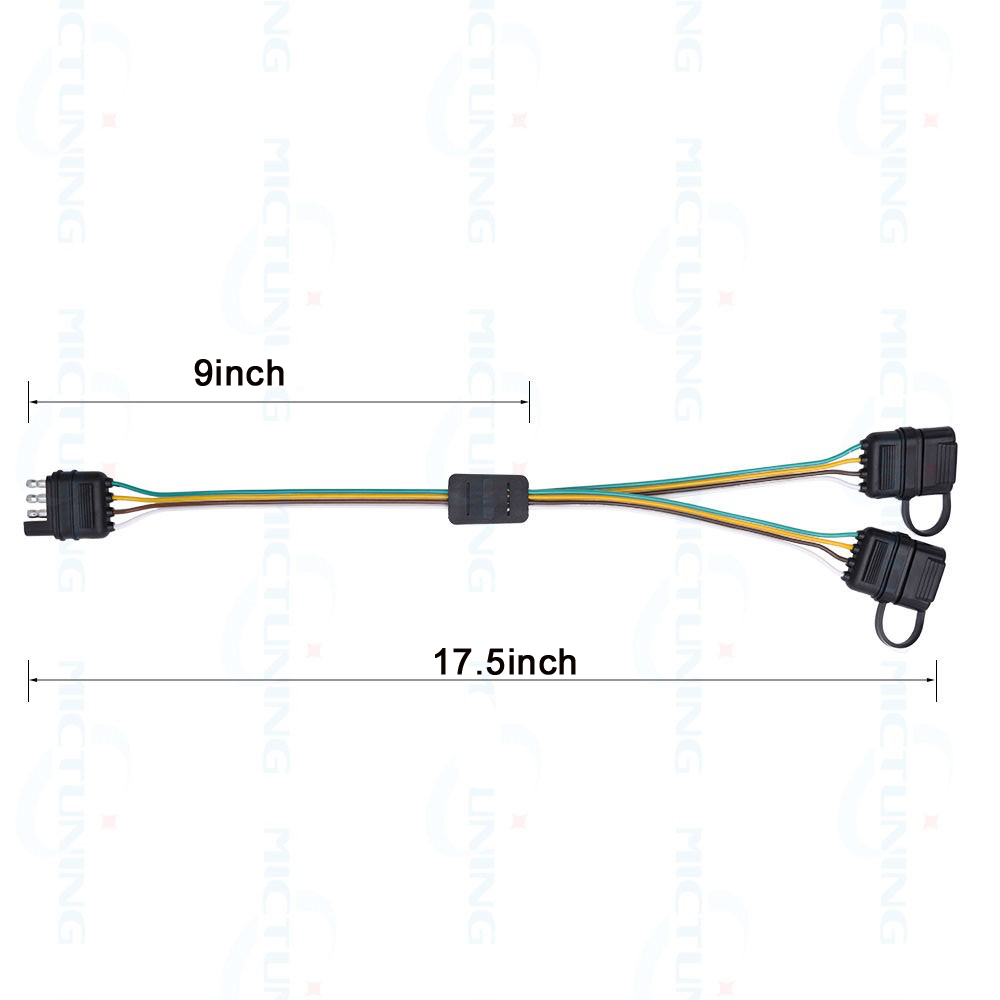 Lonleap Trailer Splitter 4 Pin Y Split Wiring Harness Adapter Connector Led Light Strip With Achterklep Bar In Cables Adapters Sockets From For