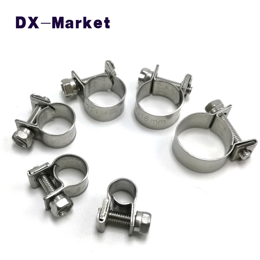 6mm-18mm, sus304 stainless steel water pipe clip mini clamp ,tube clamp adjustable clip clamps сумка tommy hilfiger am0am02623 002 black