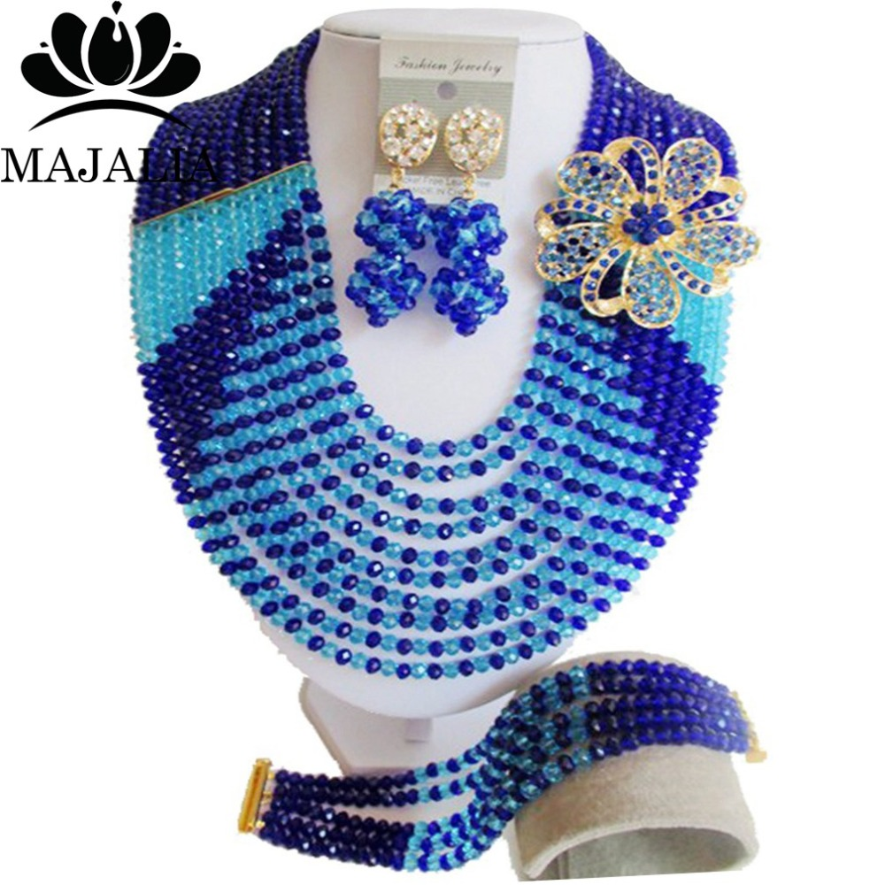2017 Fashion Nigeria Wedding african beads jewelry set blue Crystal necklace Bridal Jewelry sets Free shipping VV-1772017 Fashion Nigeria Wedding african beads jewelry set blue Crystal necklace Bridal Jewelry sets Free shipping VV-177
