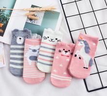 Lovely Unicorn Horn socks Totoro Cotton Sock For Women Creative Cute Girls Female Summer Spring Slippers Ladies Ankle Meias
