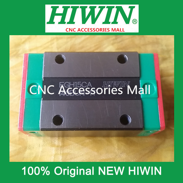1PCS HIWIN EGH15CA linear guide slider block EGH15CA Carriage guide block for HGR15 linear guide rail free shipping to argentina 2 pcs hgr25 3000mm and hgw25c 4pcs hiwin from taiwan linear guide rail