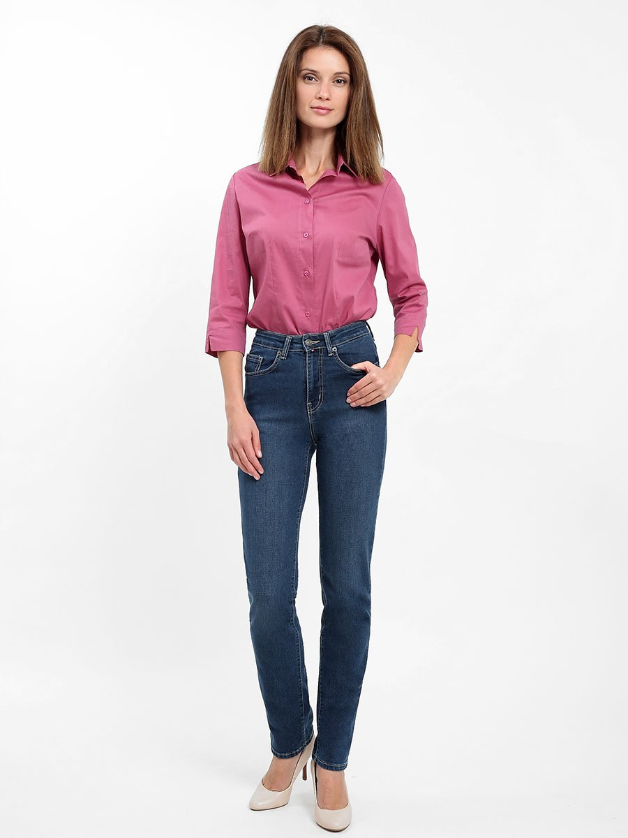 Jeans for women, Blue denim Kalos dark str. summer women knee length jeans street style big hole ripped jeans slim stretch women denim pants high quality