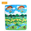150 x 180CM Muticolor Cartoon Animal Paradise Forest Park Printed Baby Play Mat Cushion Climb Blanket Educational Learning Toy