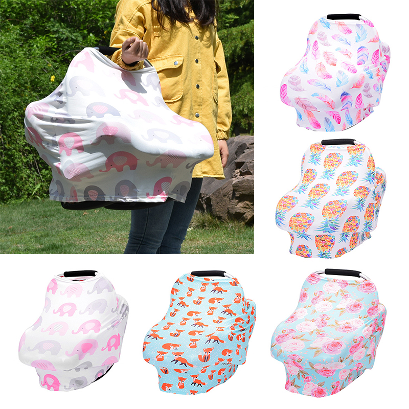 Flowers Printed Baby Nursing Privacy Cover Infant Stroller Car Seat Scarf Soft Breastfeeding Covers Stroller AccessoriesFlowers Printed Baby Nursing Privacy Cover Infant Stroller Car Seat Scarf Soft Breastfeeding Covers Stroller Accessories