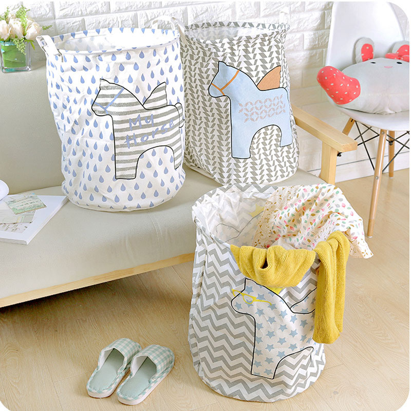 Unique Laundry Baskets Part - 34: Unique Pegasus Waterproof Clothes Laundry Basket Bag Dirty Barrel Folding  Clothes Toys Storage Creative Thickened Container