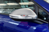 Matte Silver Chrome Side Rear View Rearview Mirror Cover Shell Trim For Volkswagen VW GOLF MK7