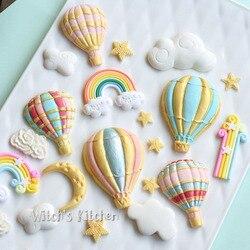 Yueyue sugarcraft balão molde de silicone fondant molde bolo ferramentas de decoração de chocolate gumpaste molde