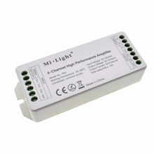New Mi Light PA4 DC12V-24V 15A 4 Channel 6A/CH High Quality Led RGB RGBW Strip Amplifier Controller Power Repeater Milight