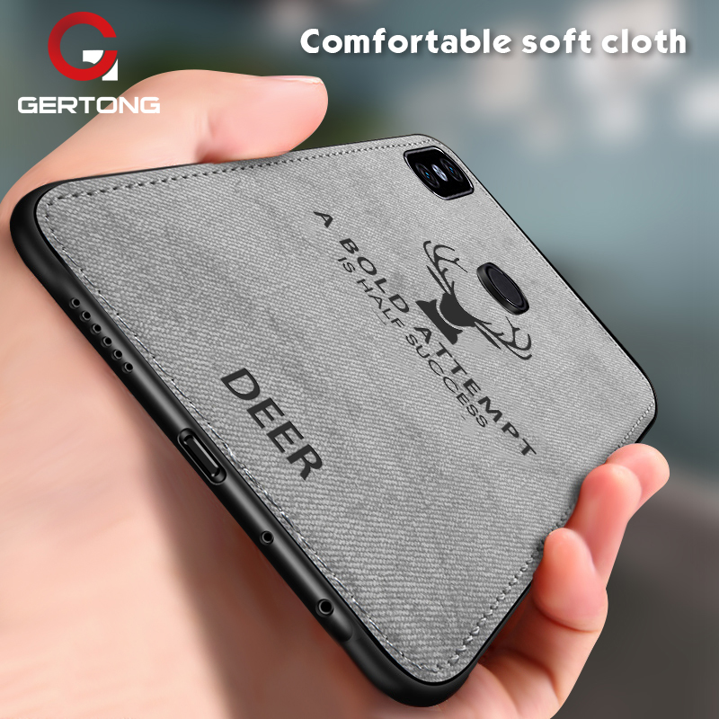 GerTong Soft Cloth Phone <font><b>Case</b></font> For Xiaomi Mi 9 8 Lite 9T Pro Mi Mix 3 2S Max 3 A1 A2 Lite Mi9 <font><b>SE</b></font> <font><b>Mi8</b></font> <font><b>Cases</b></font> Deer Fabric Back Cover image
