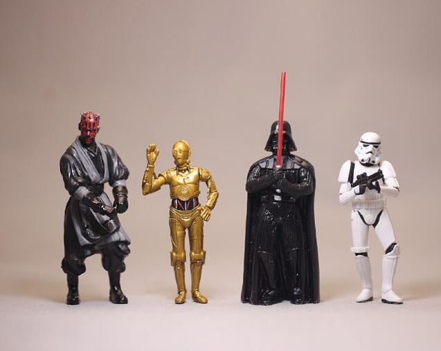 high quality 3.75inch Star Wars figure toys Darth Vade C3PO clone trooper DARTH MAUL Figures Toy Model for collection gifts