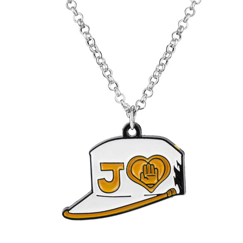 Anime Jo's Bizarra Adventures Kushiro Chengro's Student Hat Pendant Necklace Hip Hop Jewelry