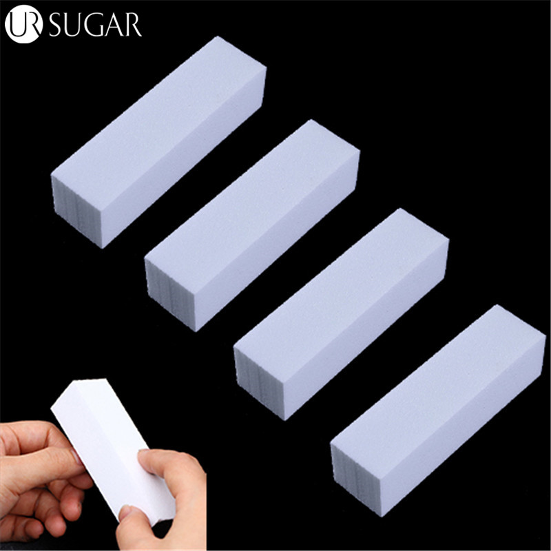 4Pcs/Lot Sanding Sponge Nail File Buffer Block For UV Gel Nail Polish DIY Nail Art  Pedicure White Nail Buffers File