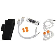EDT-Subacuática Impermeable 4 GB MP3 Reproductor de Música Radio FM Pantalla OLED Deportes Acuáticos