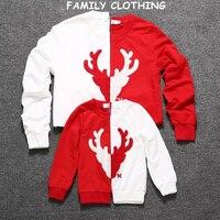 ファミリールックファミリークリスマスパジャマ母と娘服家族マッチング服母息子衣装パーカー服
