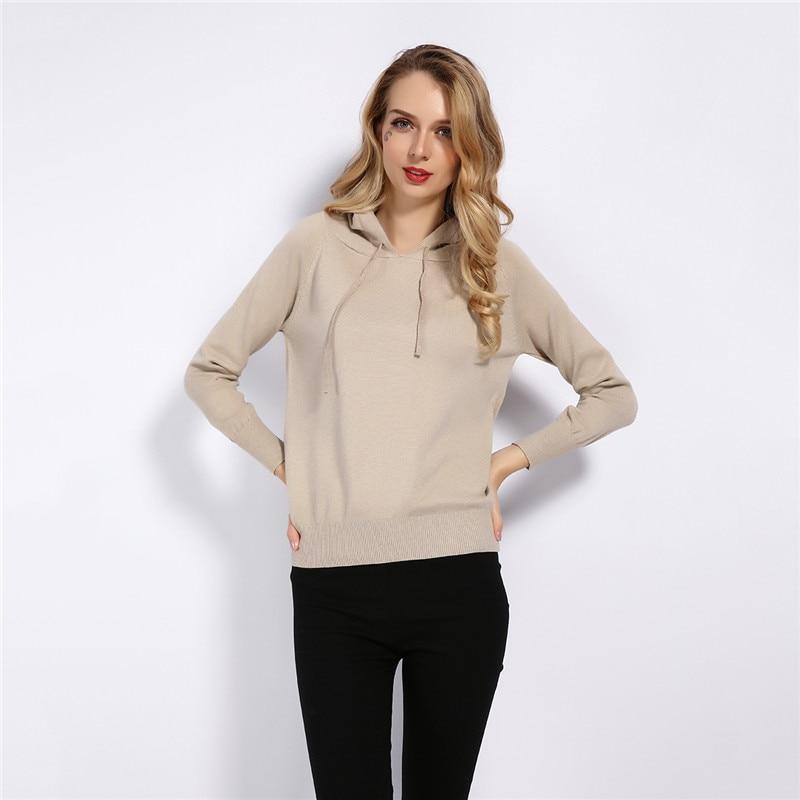 GCAROL Fall Winter Girls Knit Pullover 30% Wool Hooded Sweater High Street Candy Women Render Knit Jumper Knitwear 3