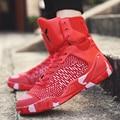 Novos Homens Respirável Basketball shoes Lace Up Mens Formadores Sapatos de Caminhada Plana Ágil Confortável Cesta Femme Zapatillas Hombre